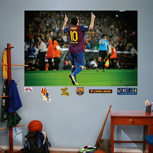 Fathead FC Barcelona Lionel Messi Mural Wall Decals