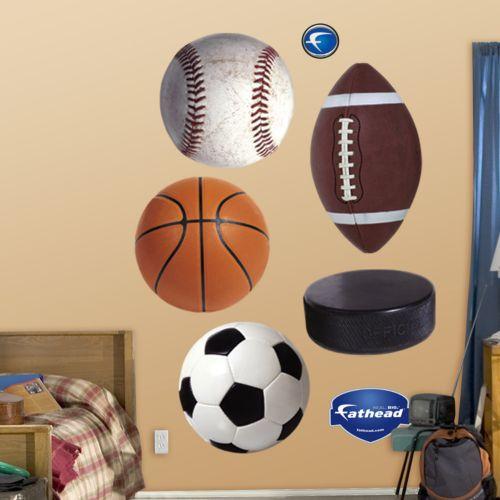 Fathead Sports Balls Wall Decals