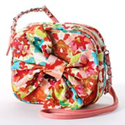 Candie's Floral Bow Canvas Cross-Body Bag