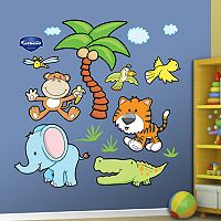 Fathead Jungle Animals Wall Decals