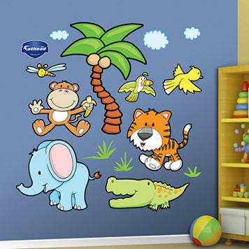 Fathead Jungle Animals Wall Decals