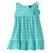 Chaps Striped Floral Sundress - Baby