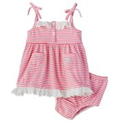 Chaps Striped Dress - Baby