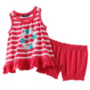 Chaps Striped Top and Shorts Set - Baby