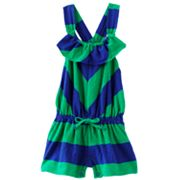 Chaps Rugby-Striped Cross-Back Romper - Baby