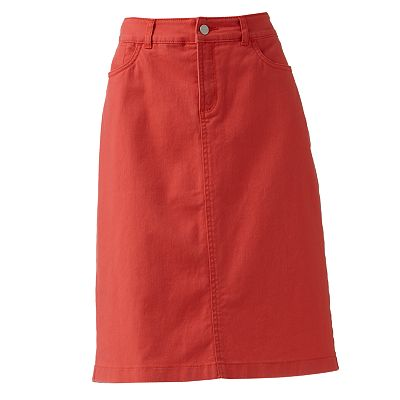 Croft and Barrow Denim Pencil Skirt