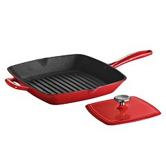 Tramontina Enameled Cast-Iron Grill Pan With Press