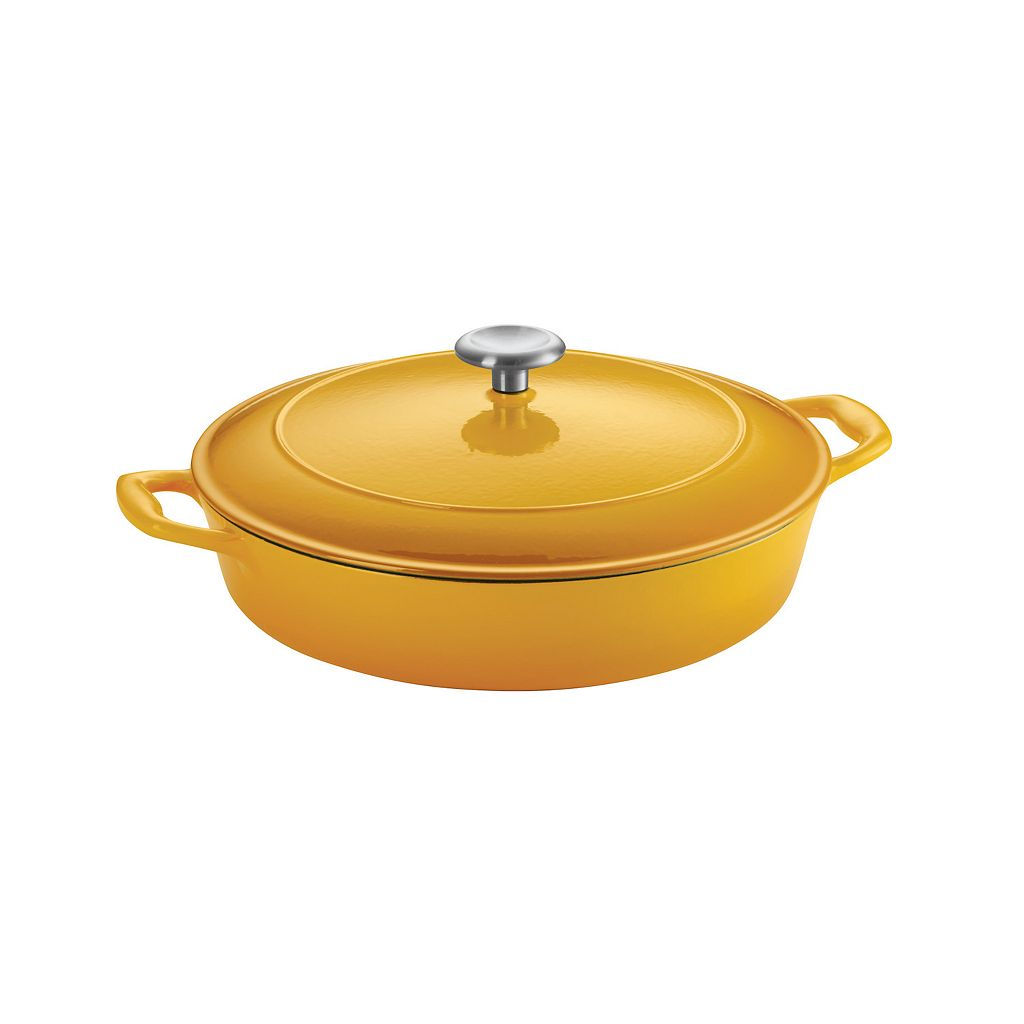 Tramontina Enameled Cast-Iron 4-qt. Covered Braiser