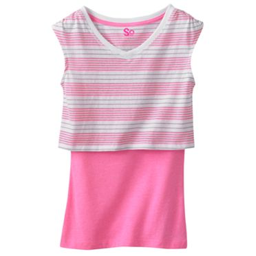 SO Striped Crop Tee and Tank Set - Girls 7-16