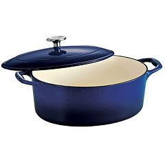 Tramontina Enameled Cast-Iron 5 1/2-qt. Oval Dutch Oven