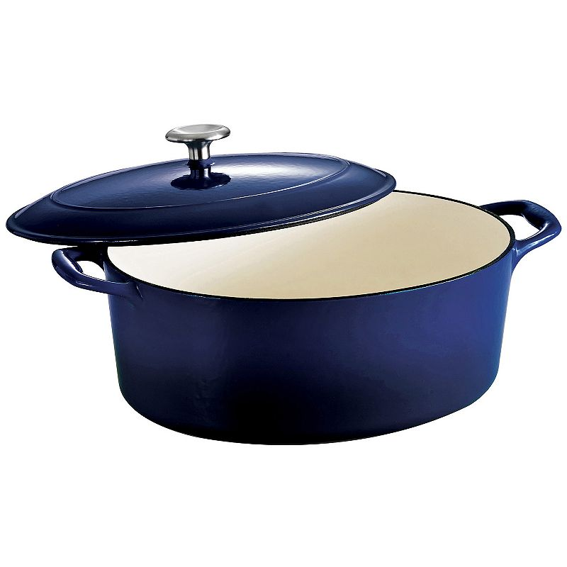 Tramontina Enameled Cast-Iron 7-qt. Oval Dutch Oven