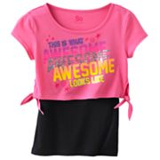 SO This Is What Awesome Looks Like Crop Tee and Tank Set - Girls Plus