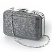 Gunne Sax by Jessica McClintock Glitter Hard-Case Clutch