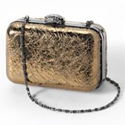 Gunne Sax by Jessica McClintock Metallic Hard-Case Clutch