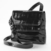 Sag Harbor Dorothy Crocodile Cross-Body Bag