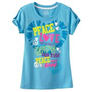 SO Peace Love and Happiness Tee - Girls Plus