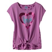 SO Love Tie-Front Tee - Girls 7-16