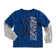 adidas Mock-Layer Soccer Triple Score Tee - Boys 4-7x