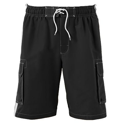 SONOMA life + style Striped Cargo Swim Trunks - Big and Tall
