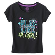 SO Play Like a Girl Tee - Girls Plus
