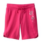 SO Peace Sign, Heart and Star Bermuda Shorts - Girls 7-16