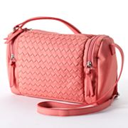 Candie's Hanna Woven Cross-Body Bag