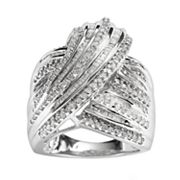 Sterling Silver 1-ct. T.W. Diamond Woven Ring