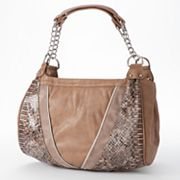 B-Collective by Buxton Veronica Snakeskin Shoulder Bag