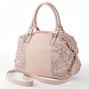 B-Collective by Buxton Perforated Sequin Convertible Satchel
