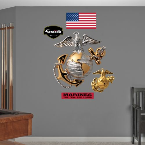 USMC Globe and Anchor Wall Decals by Fathead