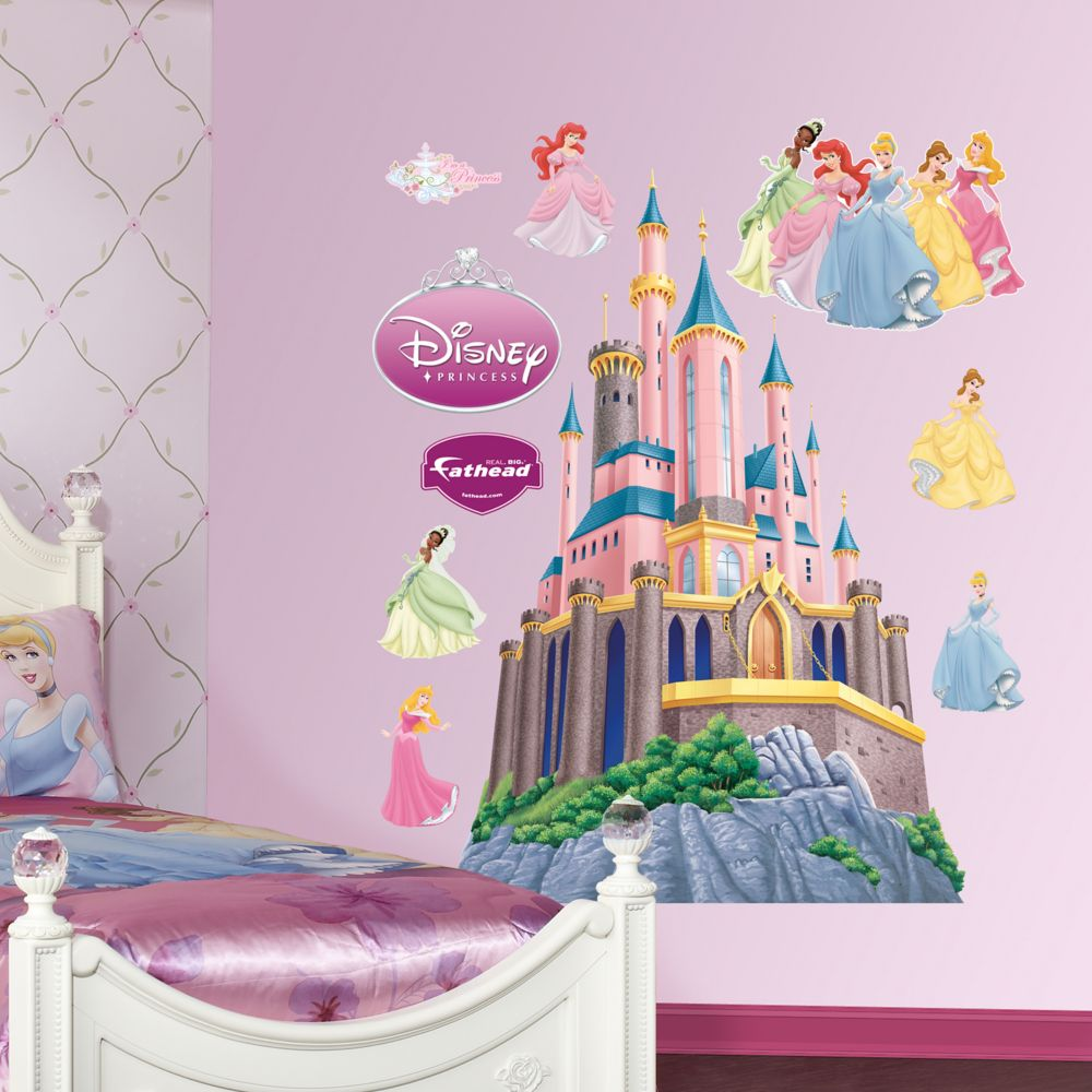 Disney Princess Wall Decor princess castle wall decalsfathead