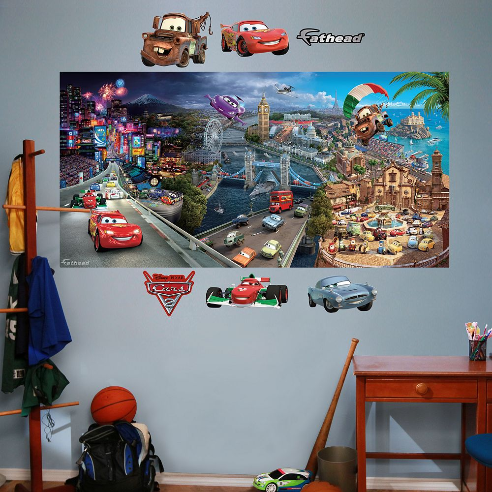 Pixar cars 2 mural wall decals by fathead disney pixar cars 2 mural wall decals by fathead amipublicfo Image collections