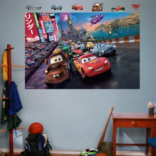Disney / Pixar Cars 2 Parade Mural Wall Decals by Fathead