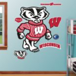 "Fathead Wisconsin Badgers ""Bucky Badger"" Wall Decals"
