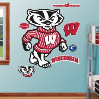 Fathead Wisconsin Badgers Bucky Badger Wall Decals