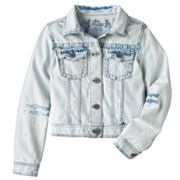 Mudd Cropped Denim Jacket - Girls 7-16