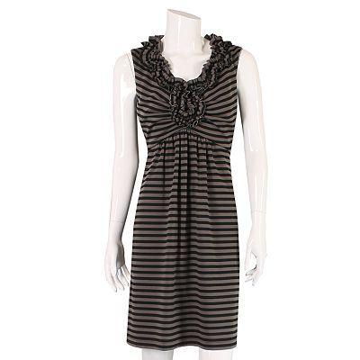 Striped Ponte Empire Dress