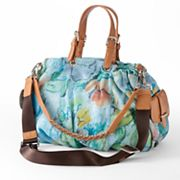 B-Collective by Buxton Floral Convertible Leather Satchel