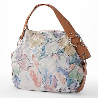 B-Collective by Buxton Floral Leather Hobo