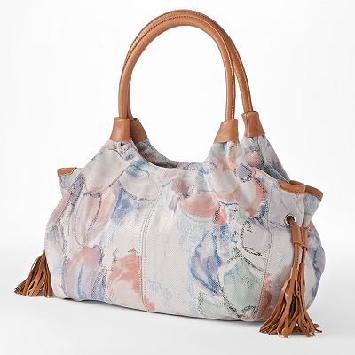 B-Collective by Buxton Floral Leather Satchel