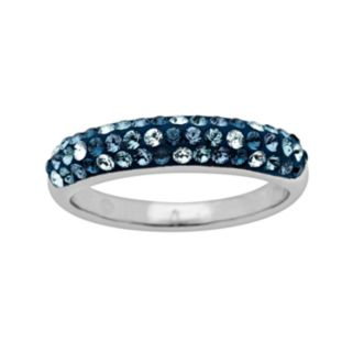 Artistique Sterling Silver Crystal Ring - Made with Swarovski Crystals