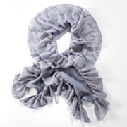 Simply Vera Vera Wang Basket-Weave Ruched Scarf