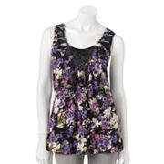 ELLE Floral Pleated Tank