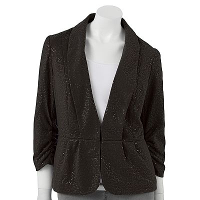 ELLE Sequin French Terry Blazer