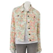 ELLE Floral Denim Jacket