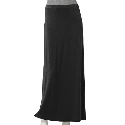 ELLE Solid Maxi Skirt