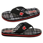 Wisconsin Badgers Flip-Flops - Adult