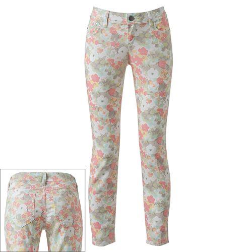 ELLE™ Floral Ankle Skinny Jeans
