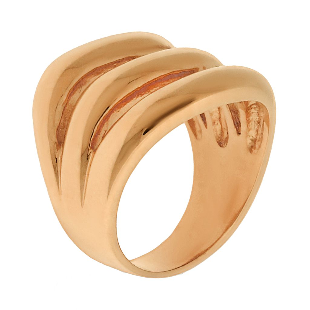 Rose Gold Tone Stainless Steel Openwork Ring