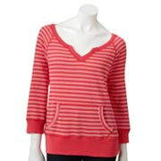SONOMA life + style Striped French Terry Sweatshirt